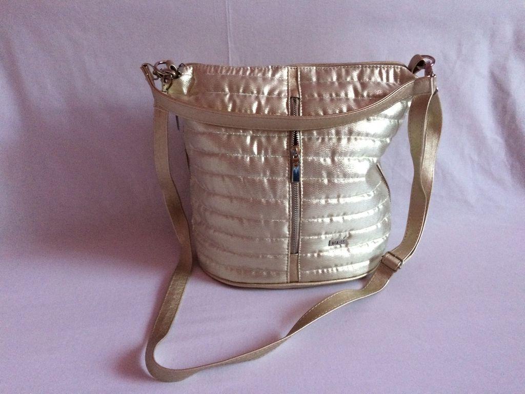 0d3d4bb9bd Via55 arany rostbőr női táska