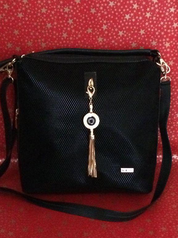 6d57a750c59e VIA55 Crossbady női oldaltáska válltáska fekete