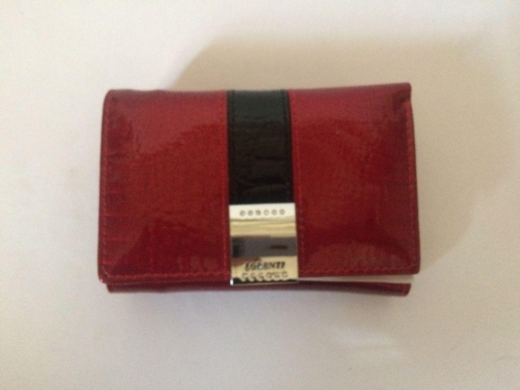 ff0d56384395 női pénztárca valódi bőr LORENTI piros -fekete