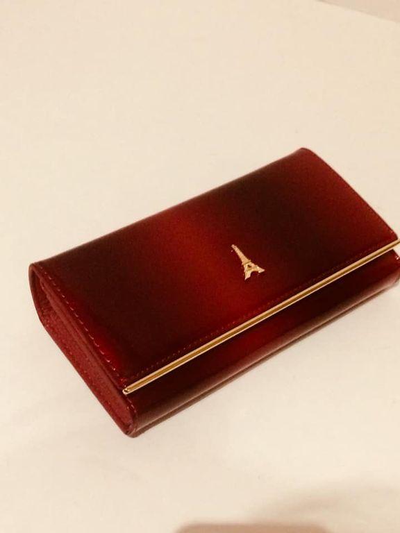 Női pénztárca Loren piros lakk bőr 146198d863