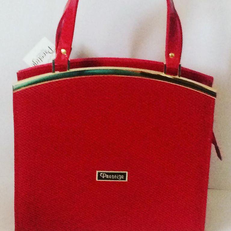 Prestige női táska Piros Lakk-Nubuk Fémdísszel 90929e833d